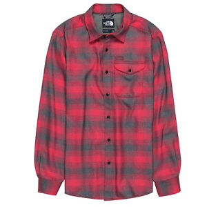183df423d Details about THE NORTH FACE Mens 2019 THERMOCORE LONG-SLEEVED SHIRT TNF  Red Prospect Plaid
