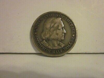 1893 World/'s Columbian Exposition Commemorative Silver Half Dollar Genuine