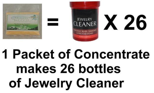 Jewelry Cleaner Solution Concentrate Gold Diamond Ultrasonic Makes 2 Gallons