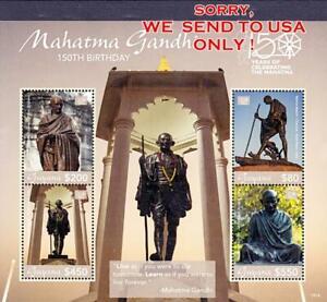 GUYANA-2019-GANDHI-ANNIV-M-S-MNH-MONUMENTS-SCULPTURE