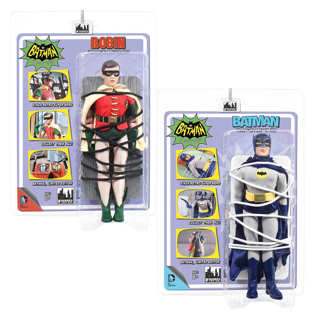 Batman 66 Classic TV Show Mego Style  Figures Heroes In Peril: Batman & Robin