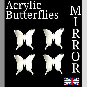 Butterfly Mirror Acrylic Perspex Various Sizes small Arts /& Crafts K/&M