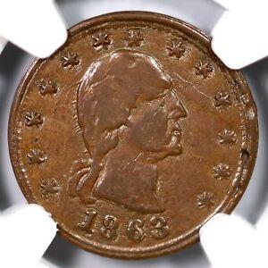1863-F-107-432a-NGC-AU-58-BN-No-Compromise-w-Traitors-Civil-War-Token