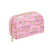 Rilakkuma Korilakkuma Pencil Case / Cosmetic Pouch, Pink Heart Kawaii San-X