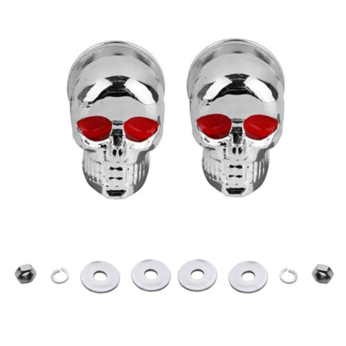 1 Pair Skull License Plate Screws Fastener Cap Bolts Cool Decor For Motorcycle
