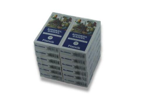 Binokel Karten, 12 x Binokel - Gaigel Kartenspiel, Spielkarten Piatnik