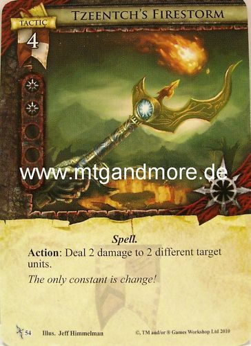 1x Tzeentch/'s Firestorm  #054 Warhammer Invasion