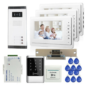 Image Is Loading 7 034 Video Intercom Door Phone Bell