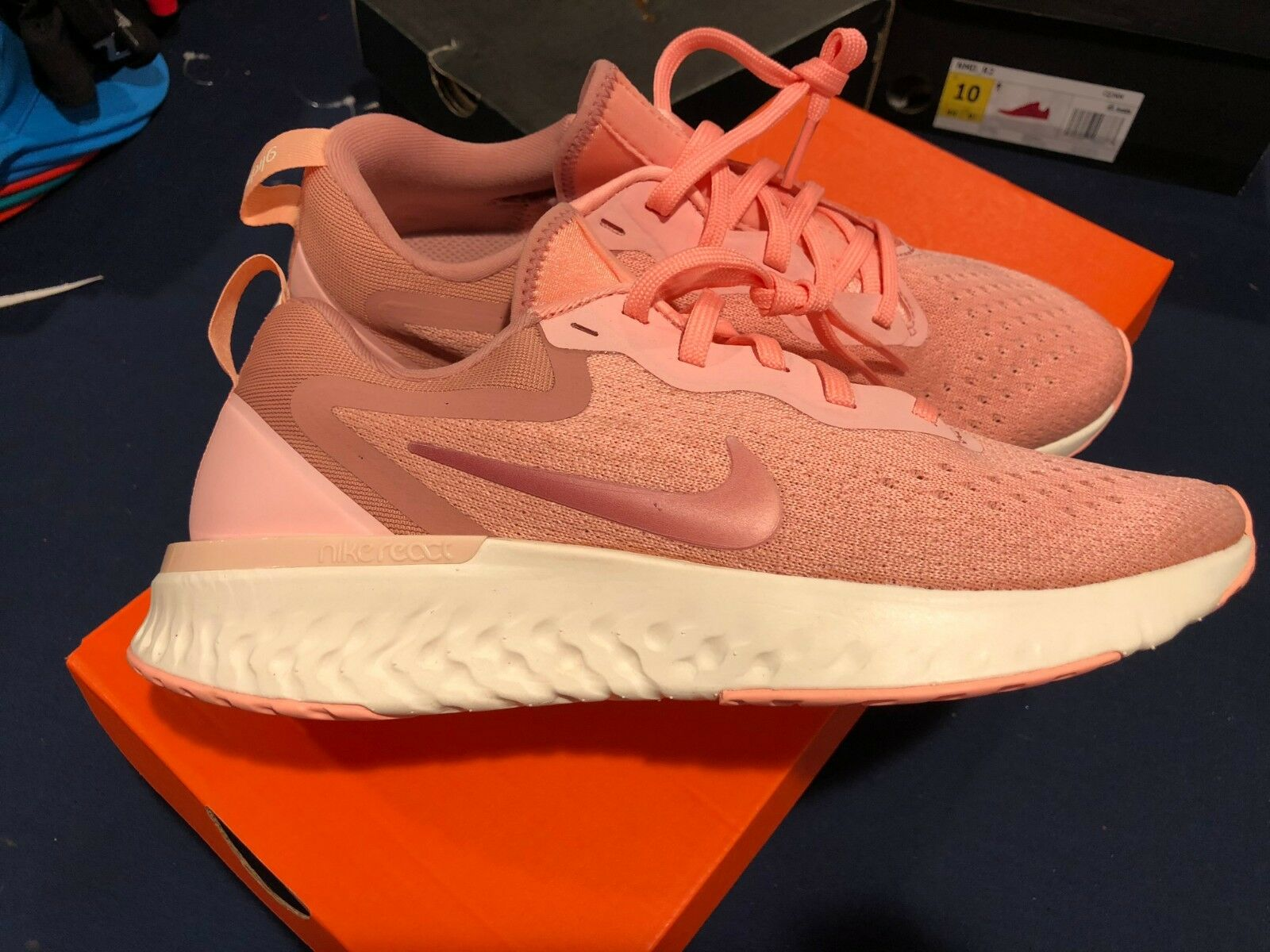 ce78e83dbb320 NEW Nike Odyssey React Women s Running shoes AAO9820 601 Pink Tint Size 8  SAMPLE. Nike Air Max ...