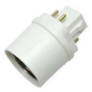 Cfl 4 Pin G24 Base To E26 Medium Adapter Socket 19739 Ebay