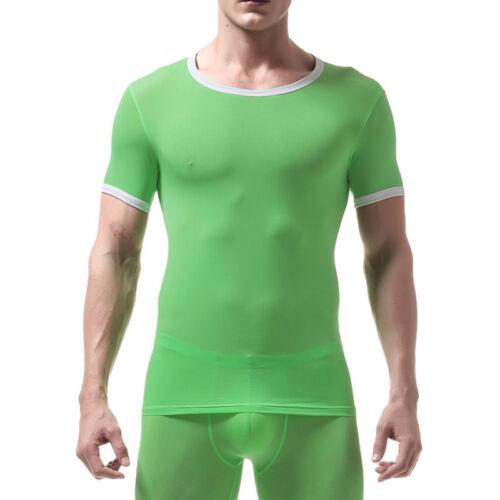 Mens Ultra Thin Under Shirt Base Layer Tight Tops Sports T-Shirts Athletic Wear