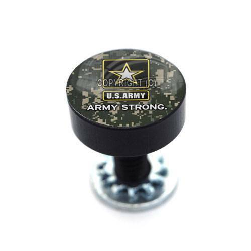 Vivid Black Billet Aluminum Smooth Thumbscrew Seat Bolt For Harley ARMY CAMO