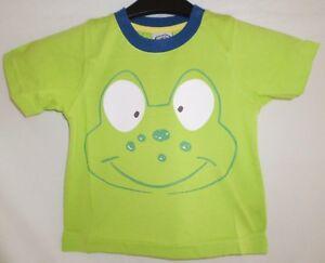 Chad-Valley-Ninos-Camiseta-de-manga-corta-verde-lima-rana-Top-3-4-anos