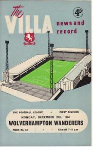 1964-65-Aston-Villa-v-Wolverhampton-Wanderers-Near-MINT