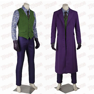 batman the dark knight joker heath ledger cosplay costume. Black Bedroom Furniture Sets. Home Design Ideas