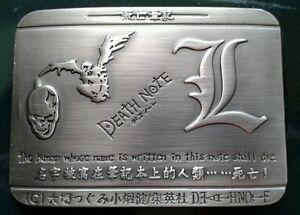 Death Note Metal Belt Buckle Japan Skull Bird Design