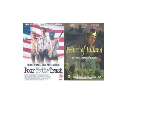 Poor White Trash + Prince of Jutland (DVD) Gabriel Byrne Sean Young DISC ONLY