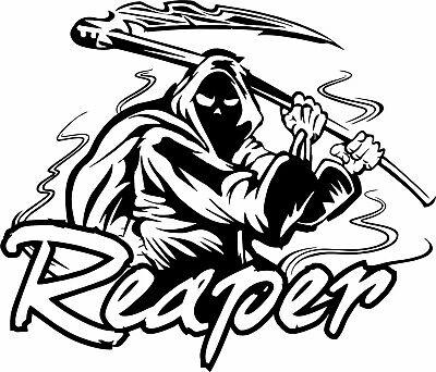 Sticker Grim Reaper with a gun Vinyl Decal