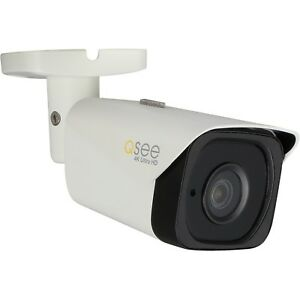 POE Q-See QCN8090B 4K UHD IP BULLET SECURITY CAMERA /& 65/' CABLE 8MP