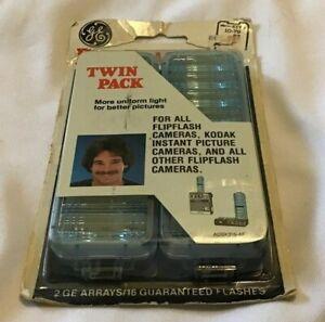 GE General Electric Flip Flash II Twin Pack NOS Camera Flash Bulbs Vintage