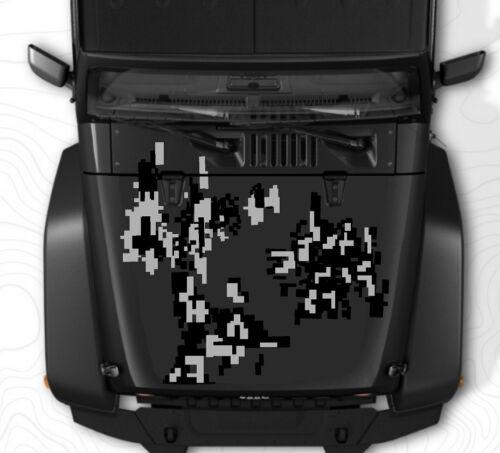 Vehicles Digital Camo-2 Door-Vinyl Decal Set for Jeep Wrangler Custom Graphics