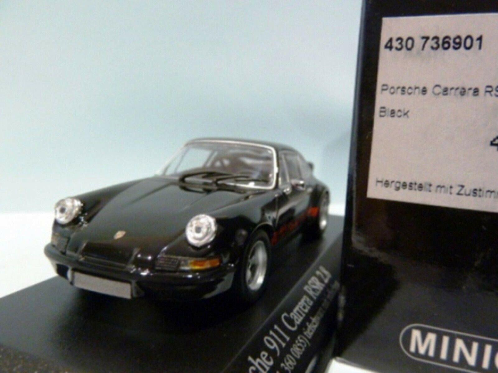 Wow extrêmement rare Porsche 911 RSR 2.8 2.8 2.8 Noir Rouge 1973 1 43 Minichamps-GT2 RS 9d8027