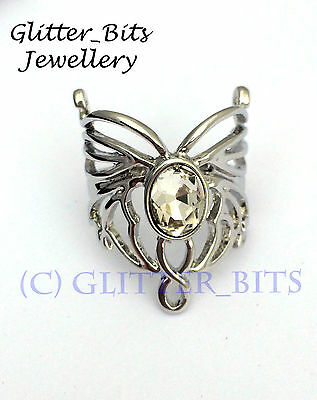 Arwen Evenstar Butterfly RING LOTR Lord Of The Rings HOBBIT Silver Aragorn