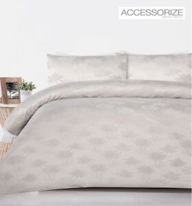 300TC-Palm-Tree-Champagne-Grey-Jacquard-Quilt-Doona-Cover-Set-QUEEN-KING