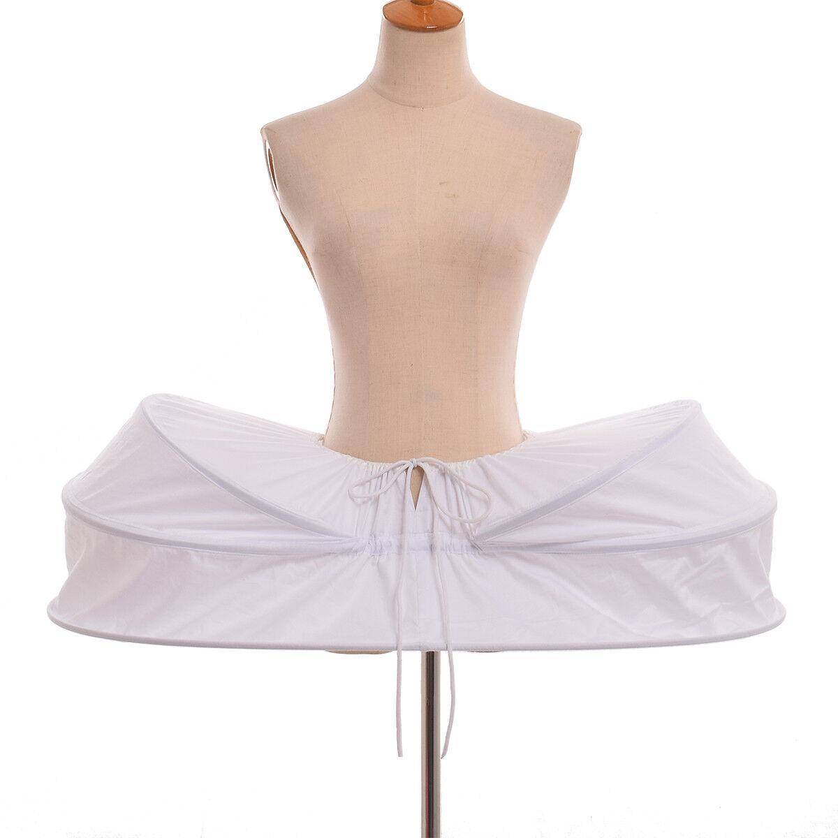 Fashion Elizabeth Crinoline Underskirt Hoop Skirt Pannier Bustle Petticoat