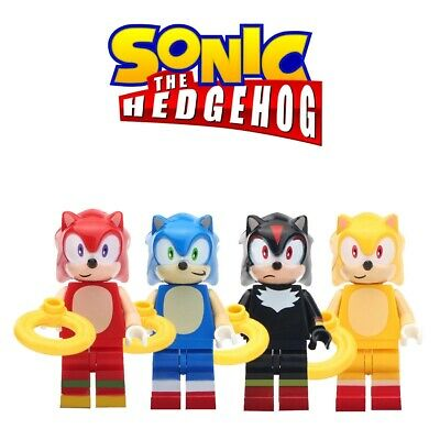 4pcs Sonic The Hedgehog Brand New Lego Moc Minifigure Gift For Kids Collection Ebay