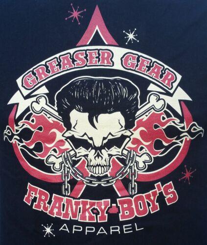 Mens-rockabilly-greaser-psychobilly-franky garçon/' s apparel-greaser gear-t chemise