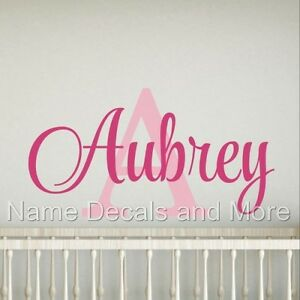 Decal-Decor-Girls-Bedroom-Personalized-Name-Initial-Vinyl-Nursery-Wall