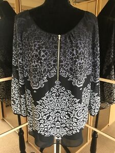 Top Ladies 10 Size Printed Velvet Layered Stunning Floaty Ombré Mint B7FSx