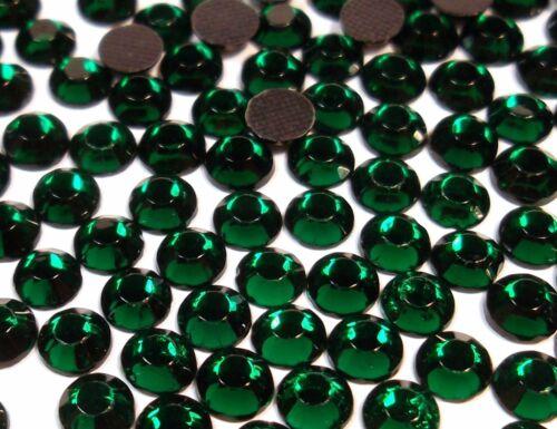1440 HotFix pedrería 5mm verde esmeralda cristal pedrería perchas piedras Best 427