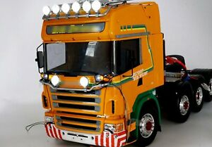 6LED-Spotlight-For-TAMIYA-Scania-1-14-RC-Tractor-Truck-Top-Light-Holder-Metal