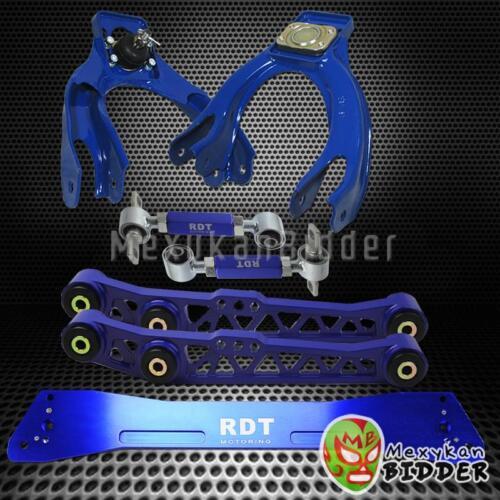 Front Rear Camber Kit Acura Integra 94-01 DC2 Blue Rear LCA Subframe Brace Kit