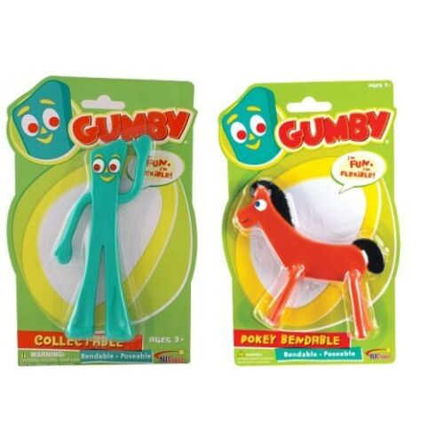 Gumby /& Pokey Bendable Action Figures Classic Toys 5in Great Stocking Stuffer