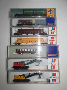 7-Roco-Freight-Car-25200-25390-02362S-25099-25480-N25015-N25605-Boxed-Scale-N