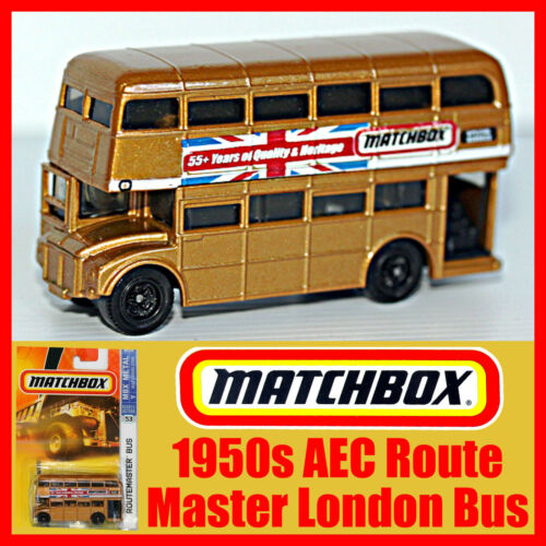 Matchbox 1950s AEC Routemaster Double Decker London Bus Gold MOC 55 Years Mint