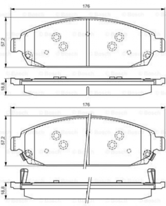 Scheibenbremse für Bremsanlage Vorderachse BOSCH 0 986 494 370 Bremsbelagsatz