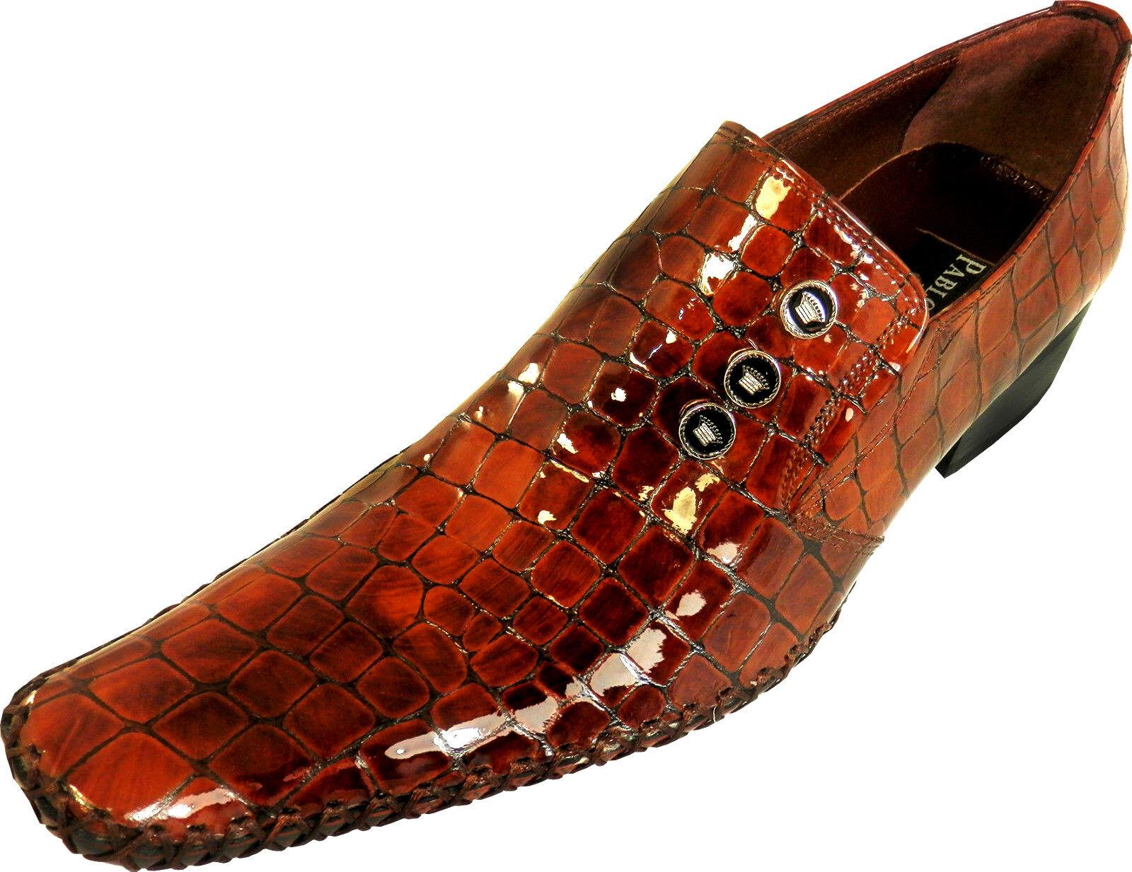 Pablo Picasso Diseñador de Cuero Auténtico Suela Correa Cocodrilo Zapato Hombre
