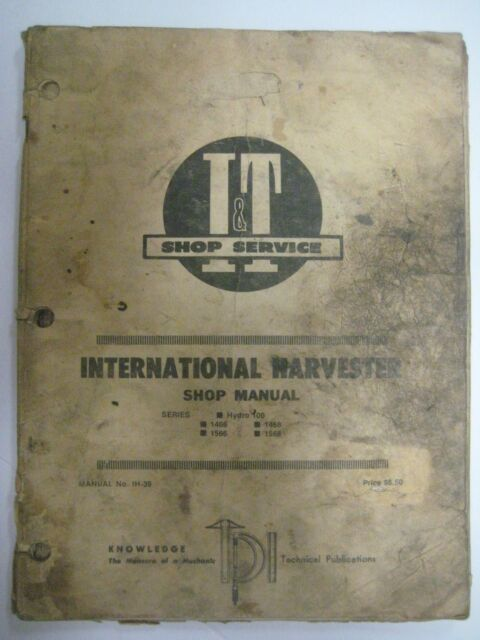 Vtg 1976 International Harvester Shop Manual Ih
