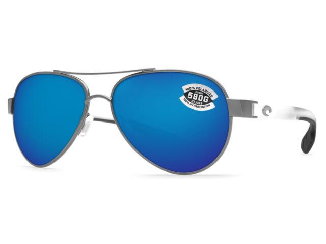 9437633bf6 Costa Del Mar Loreto Gunmetal Crystal/blue Polarized 580g LR 74 OBMGLP