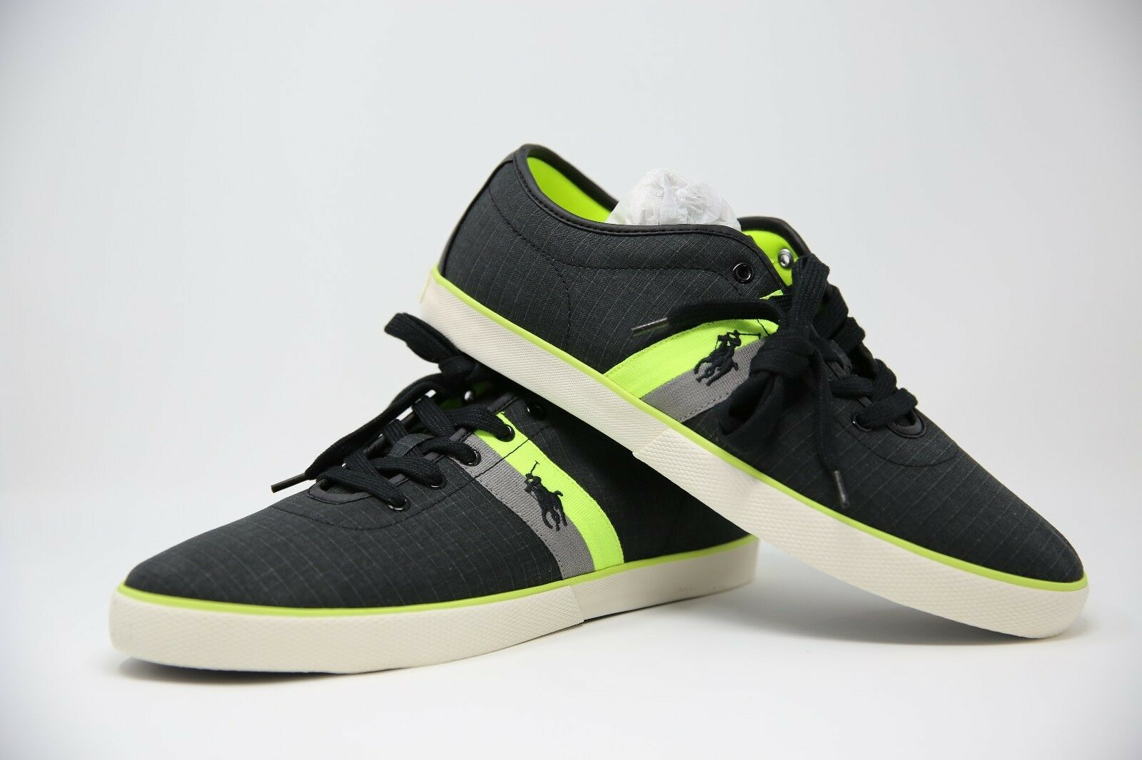 Polo Ralph Laurennoir& Yellow Matte hommesHanford Trainers