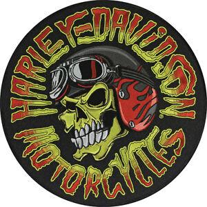 harley davidson aufn her emblem kustom skull totenkopf. Black Bedroom Furniture Sets. Home Design Ideas