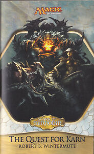 LIBRO-Magic-The-Quest-for-Karn-ROBERT-B-WINTERMUTE-1st-ED-RARE-SOFTCOVER