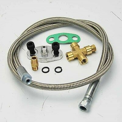 """36/"""" ALUMINUM OIL FEED LINE 1//8 NPT FOR T3 T4 T04E T66 T67 T70 GT35 TURBO CHARGER"""