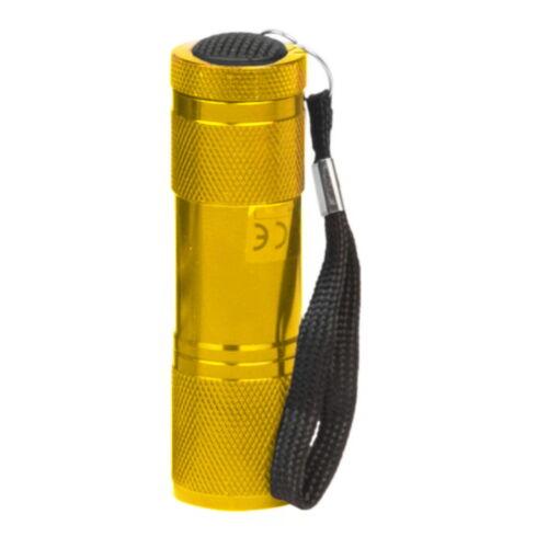 High Power LED Lampe Mini Taschenlampe 9 LED exklusive Batterien Arbeitslampe