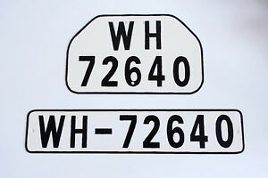 Details about GERMAN ARMY WWII WW2 repro car vehicle truck license number  tag plates WH-72640