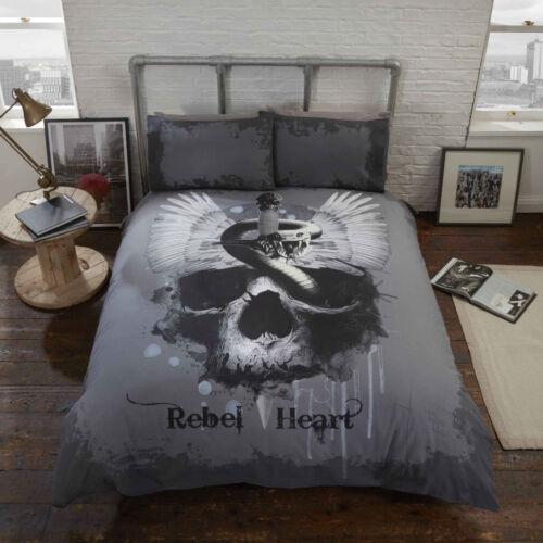 Gothic Duvet Cover /& Pillowcase Set Snakes /& Skulls